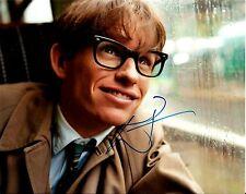 Eddie Redmayne signed Theory of Everything 8x10 photo - Les Miserables