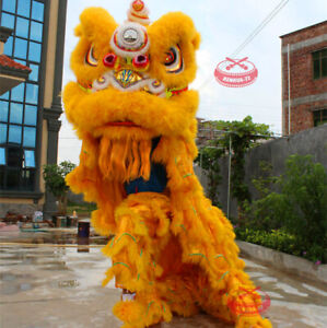 Chinese Foshan Lion Dance Mascot Costume Huang Feihong South Lion/two Adults