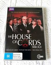 THE HOUSE OF CARDS TRILOGY –  DVD, 3 DISC SET, R-4, LIKE NEW, FREE POST AUS-WIDE
