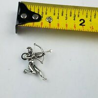 Vintage Sterling Silver Western Cowboy Indian Bracelet Charm Bow Arrow