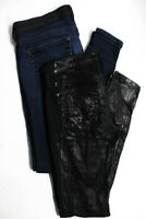 AG Adriano Goldschmied Womens Legging Super Skinny Jeans Black Size 27 LOT 2