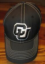 Colorado Buffaloes Men's Baseball Cap, Hat, CU Black, Size S/M, Stretchback, EUC
