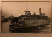 1901 Transportation in New York City Subway Bridges Ferries  illustrated