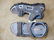 Hush Puppies NEU * Coole bequeme Leder Sandalen Gr.33 Schuhe mit Klett grau aqua