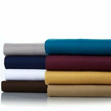 On Sale! Concierge Collection Microfiber 4-pc King Sheet Set, Chocolate - 3F19H