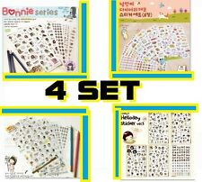 Stickers Album Diary Card Calendar Label Scrapbooking Crafts Wholesale lot 4 set