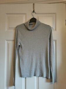 Grey and silver sparkly roll neck  top by Dorothy Perkins in a size 10