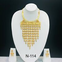 Indian Long Chain Mala Gold Plated Necklace Casual Party Ware Jewellery women