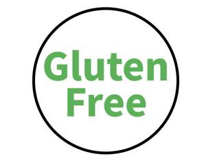 """Gluten Free"" Food Allergy Labels - Green - 19mm (117 per sheet)"