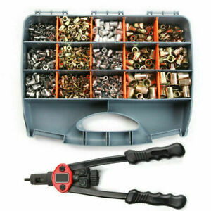 900pcs Nutsert Tool Kit Rivnut Stainless Steel Rivet Nut Tool Mandrels Kit Mixed