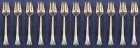 SET OF TWELVE - Oneida Silverplate Flatware FLORAL QUEEN Salad Forks