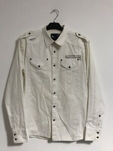 G Star Raw Military Style Long Sleeve Shirt Mens Size Large