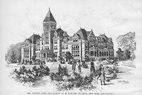 MASONIC HOME AND SCHOOL TO BE ERECTED UTICA NEW YORK 1890 HISTORY ARCHITECTURE