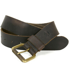 Timberland Mens Distressed Belt Genuine Leather Classic Metal Buckle Sizes 32-42