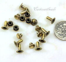 Compression Rivets, TierraCast, 6 mm, Brass, Leather Findings, 10 Sets, 6127