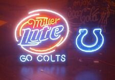 "New Indiana Colts Miller Lite Go Colts Neon Light Sign 24""x20"""