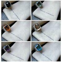 $1,950 David Yurman Sterling Silver 925 16 x 12mm Wheaton Ring's with Diamonds