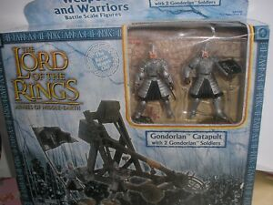 LOTR ARMIES OF MIDDLE EARTH GONDORIAN CATAPULT WITH GONDORIAN SOLDIERS