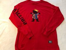 Grizzly Grip tape red long sleeve bear/crown Size S/M, signature graphic on back