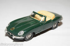 MC TOY MCTOY JAGUAR E TYPE CABRIOLET GREEN VERY NEAR MINT CONDITION