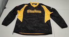 Reebok On Field Mens M Pitsburgh Steelers Black Windbreaker Jacket NWOT