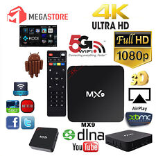 MX9 4K 2K 1080P Smart TV BOX XBMC H.265 Android Quad Core WiFi Mini PC