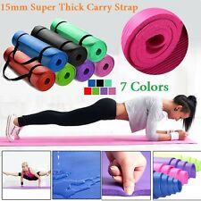 15MM Thick Yoga Mat Non-slip Durable Exercise Fitness Gym Mat Lose Weight Pad
