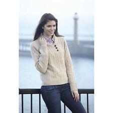 Toggi Ladies Hatfield Chunky Knit Country Sweater Jumper Lambs Wool