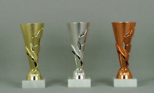 Pokal / Fußball / 16cm / gold silber bronze / mit Gravur / kompl. MONTIERT