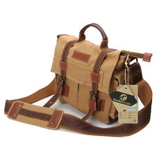 Vintage Canvas DSLR Camera Bag Lens Insert Case Shoulder Messenger Bag For Canon