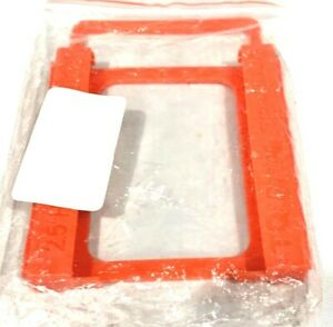 """Lot of 2- 2.5"""" to 3.5"""" Bay SSD HDD Plastic Hard Drive Mounting Bracket Trays Red"""