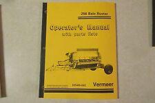 Vermeer 256 Bale Buster Owners & Parts Manual