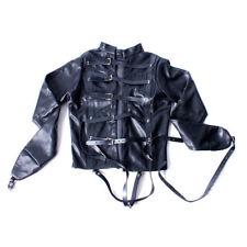 White Asylum Straight Jacket Costume S/M L/XL BODY HARNESS Restraint Armbinder
