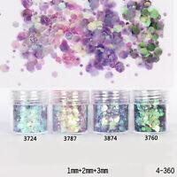 10ml/Box Glitter Dust Powder Nail Art Pink Purple Tips 3D  Decoration