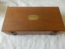 "WHEATLEY DOUBLE SIDED WOODEN FLY BOX 10 ""X 5"" X 2 1/2"" + 130 SALMON DOUBLES"
