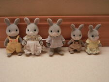 CALICO CRITTES Sylvanian Family Cottontail 5pc gray Rabbit Family set