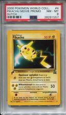 Pokemon 2000 World Collection Movie Promo Pikachu PSA NM - MT 8!