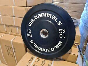 Brand New Wild Animals 2 x 10kg Black Olympic Bumper Plates