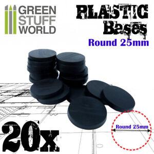 Socles Acryliques ROND 100 mm Transparent Figurines Bases Plateaux Laser Armées