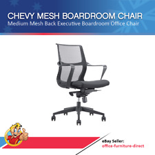 Chevy Mesh Boardroom Executive Office Chair Gas Lift Chairs + Arms & Padded Seat