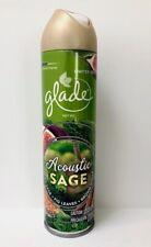 3 X GLADE Acoustic Sage Air Freshener Spray 8 oz Limited Edition