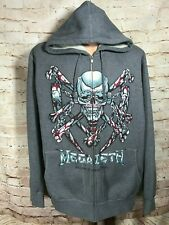 MEGADETH Killin is my Business Men's Gray Zip upXXL Hooded Sweatshirt Hoodie