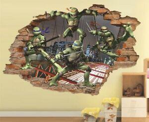 Teenage Mutant Ninja Turtles 3D Wall Decal, Wall Removable Vinyl Sticker