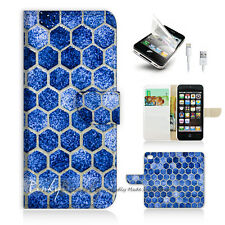 ( For iPhone 5 / 5S / SE ) Wallet Case Cover PB10306 Cell Abstract
