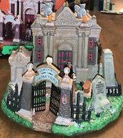 Spooky Town Lemax Forlorn Cemetery Display Halloween Village Retired No Cord