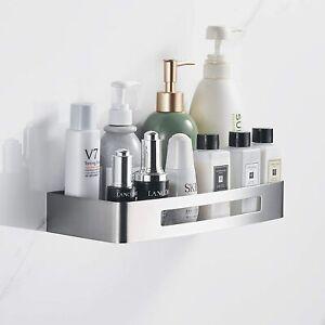Cobbe Rectangular Stainless Steel Bathroom Shelves, Drilling Shower Shelf for Ba