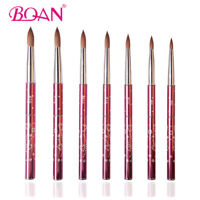 BQAN 1PC Nail Art Acrylic Brush Manicure Beauty Tool Kolinsky Hair Metal Handle