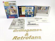 "Super Nintendo Spiel "" Sim City 2000 "" Snes | Ovp | Pal | CIB"