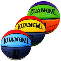 New Kuangmi 8 Colors PU Indoor Outdoor Basketball Ball Size7 & Size6 & Size5