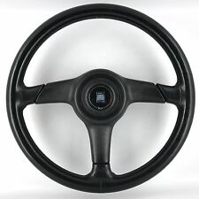 Genuine Nardi Gara 365mm black leather steering wheel, horn pad. 1990's classic.
